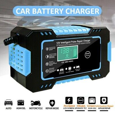 12V 6A Smart Intelligent Car Battery Charger Automatic Repair Stater AGM GEL US