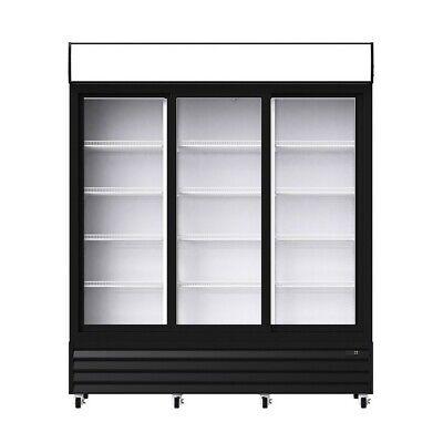 3 Sliding Door Merchandiser Upright Refrigerator - Glass Front Display Cooler