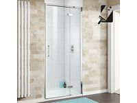 Hinged Shower Door Screen BRAND NEW 1000mm x 1950mm x 8mm Thick Safety Glass Premium EasyClean