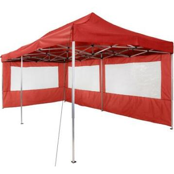 tectake partytent opvouwb. 3x6 m - 2 zijdelen rood - 403161