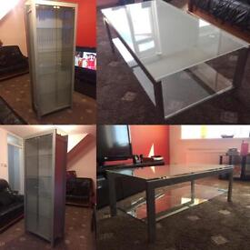 Matching Display Cabinet and Coffee Table Set