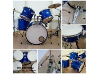 TEMPO 5 PIECE DRUM KIT WITH HARDWARE & CYMBALS