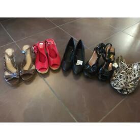 5 pair of ladies new shies