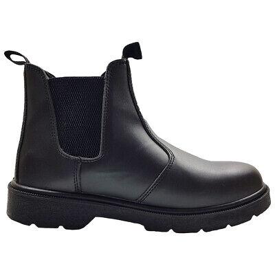 Blackrock Dealer Boots Steel Toe Cap Black Leather Chelsea Safety Work (SF12B) Black Safety Toe Boot