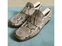 Original 1990s Patrick Cox vintage wannabie loafers, real snake skin