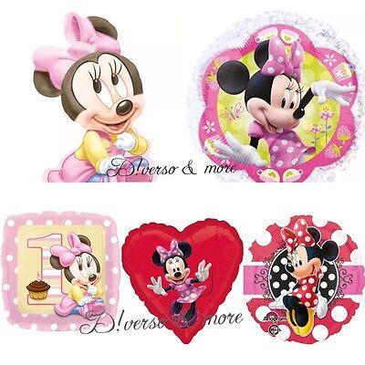 XL Minnie Baby Mouse Maus Luftballons Folienballons  1 Geburtstag Helium Glitzer