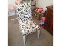 Decorative / dressing table damask chair