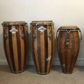 Congas / Set of 3 vintage conga drums