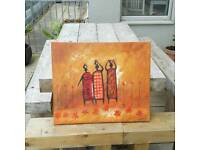 African oil painting canvas