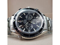 Rossco's Watches. Omega Seamaster Co Axial Chronometer . Black Face. New, Boxed with Paperwork