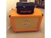 Orange 2x12 Speaker Cabinet can be used with Marshall, Laney, Fender