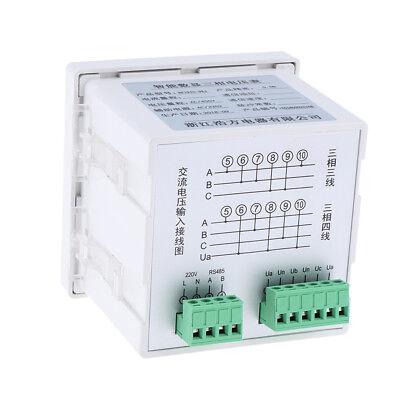 3 Phase Lcd Digital Display Voltage Multifunction Energy Power Panel Meter