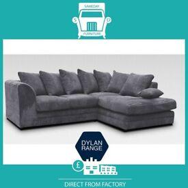 🔌New 2 Seater £169 3S £195 3+2 £295 Corner Sofa £295-Crushed Velvet Jumbo Cord Brand ⸹W1