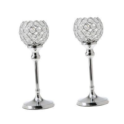 2 stk. Kristall Kerzehalter Teelichthalter Kerzenständer Hochzeit Deko Kristall-kerze