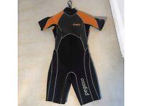 Pegaso Wetsuit. Size 8/10 M. Black & Orange