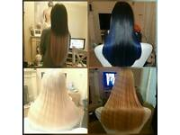 Individual hair extensions and LA weaves