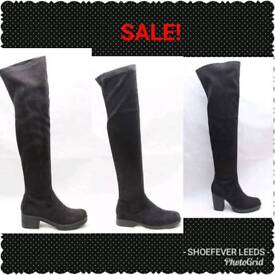 knee high stretchy boots