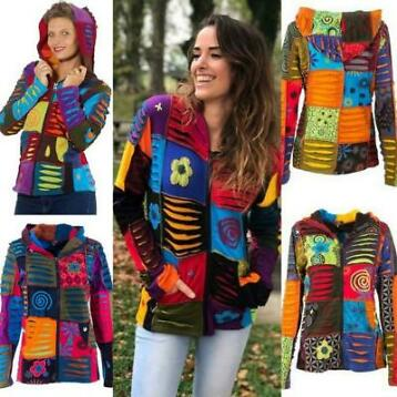 Patchwork vest happy multi maat XXL 44-46 P14