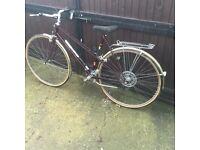 1980s retro raliegh hybrid bike