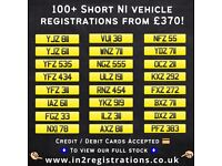 """100+ NEW! Short NI Number Plates from £370 - Registration plates.18 19 20"""" Inch Alloy wheels"""