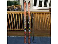 Kastle Aerospeed adult skis with Salomon Bindings
