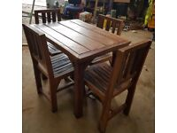 Multiple Rustique Table and chair sets