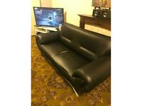 Nice Black leather sofa -£50 ONO