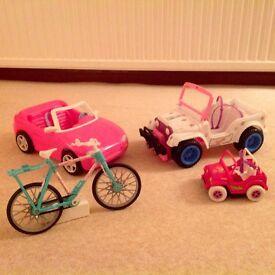 4 Barbie vehicles