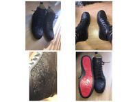Christian louboutin men's black glitter shoes