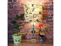St Germain - Handmade Bottle Lamp With Shade