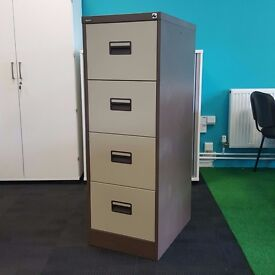 4 Drawer Silverline Executive Filing Cabinet