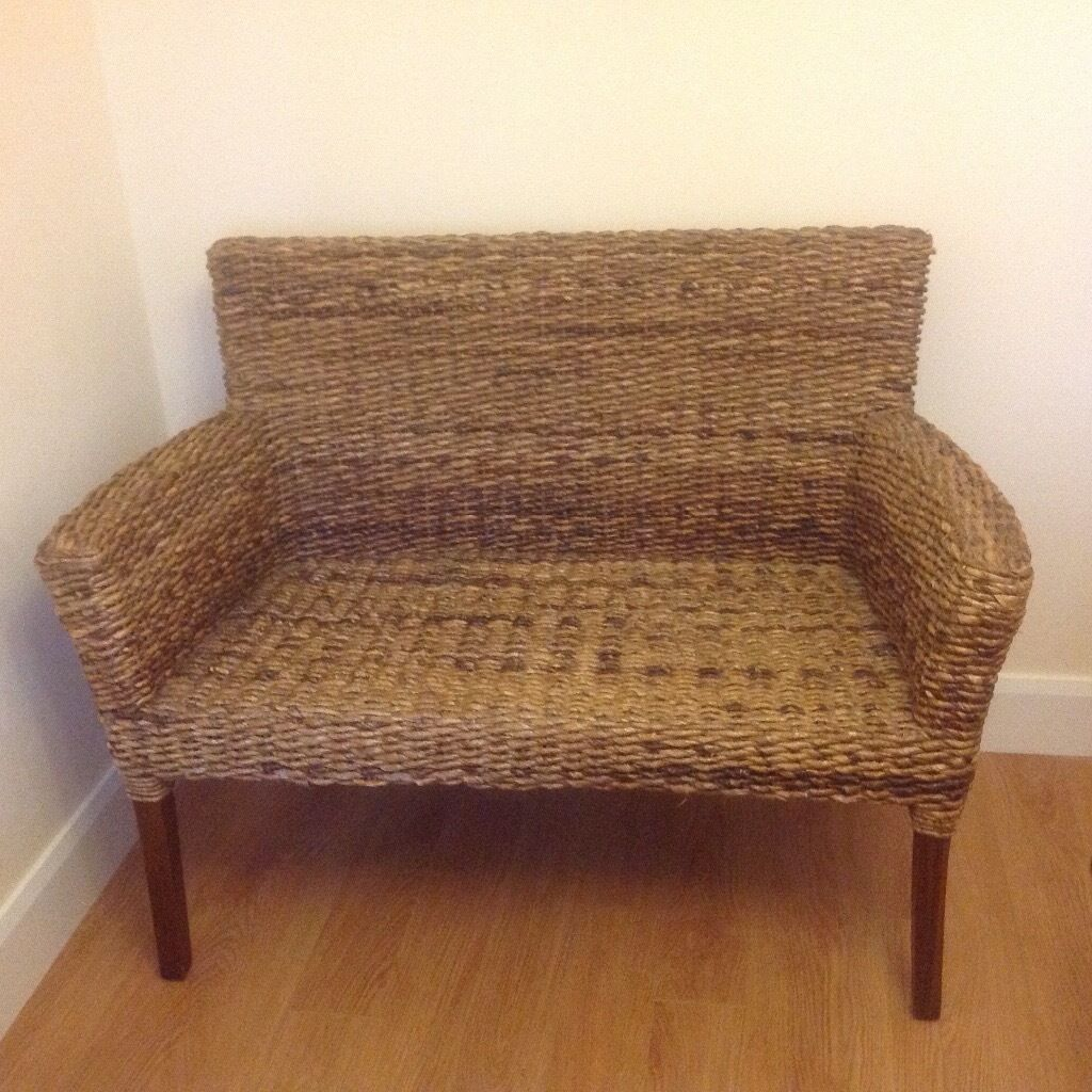 Cane 2 seater settee