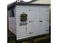 large heavy duty wooden shed work shop