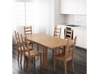 IKEA Stornas Extendable Dinning Table & 4 chairs; Showroom condition, Cost £360