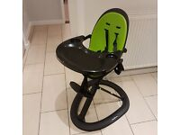 New Ickle Bubba Orb Highchair black/green still boxed.