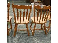 Set of 4 farmhouse style kitchen dining chairs