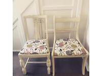 Four Refurbished dining chairs