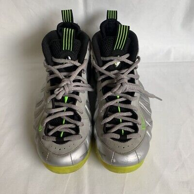 Nike Mens Air Foamposite One Prm Basketball Shoes Silver 575420 004 Lace Up 8.5
