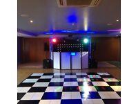 15x15ft Black & White Dancefloor (Brand new Condition)