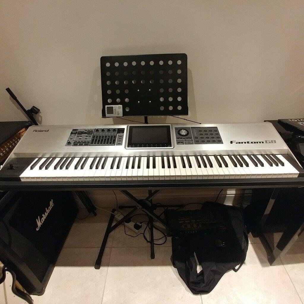 roland fantom g8 keyboard workstation synthesizer 88 keys silver in kings lynn. Black Bedroom Furniture Sets. Home Design Ideas