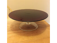 Ikea glass cake stand - nearly new condition 13""