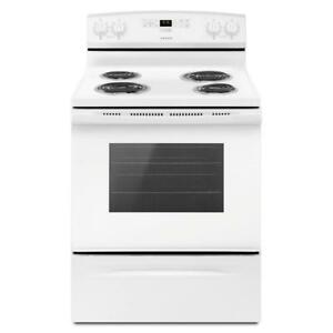 30-Inch Amana® YACR4303MFW Electric Range With Bake Assist Temps (BD-1617)