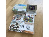 New Nintendo 3DS - handheld game console - white + 3x Games