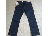 Mens Jack Jones Blue Jeans - Size 34 Waist 30 Leg - Regular Fit - Brand New With Tags