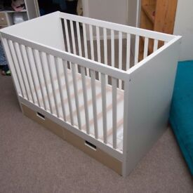 Ikea cot bed with drawers