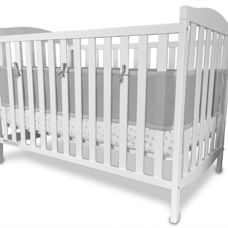 Baby Crib Bumper Breathable Mesh Crib Liner Standard Infant