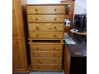 Solid wood chest of 4 drawers x 4