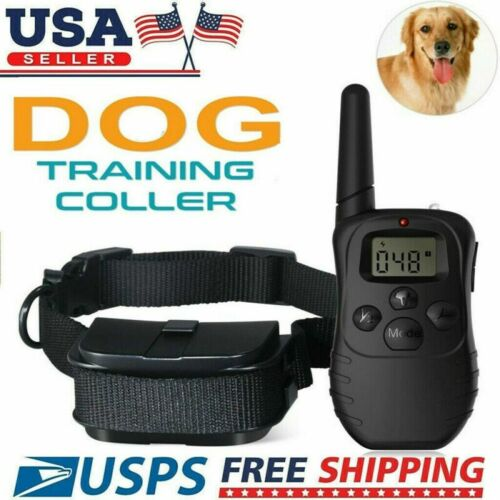 Waterproof Dog Shock Training Collar With Remote Electric Trainer Small Large US