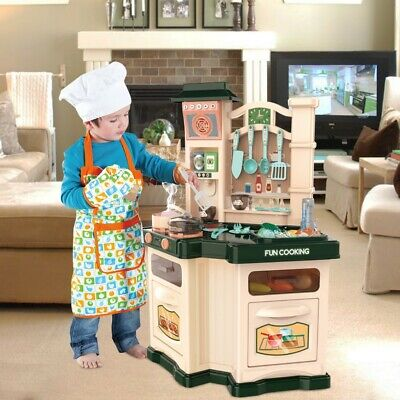 Kitchen Play Set Pretend Baker Kids Toy Cooking Playset Girls Food Gift Present
