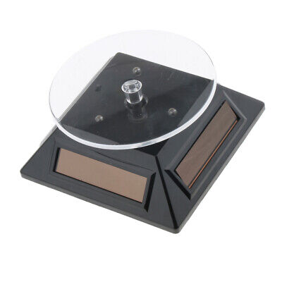 Upmarket Solar Powered Rotating Display Stand Turntable Jewelry Watch Black